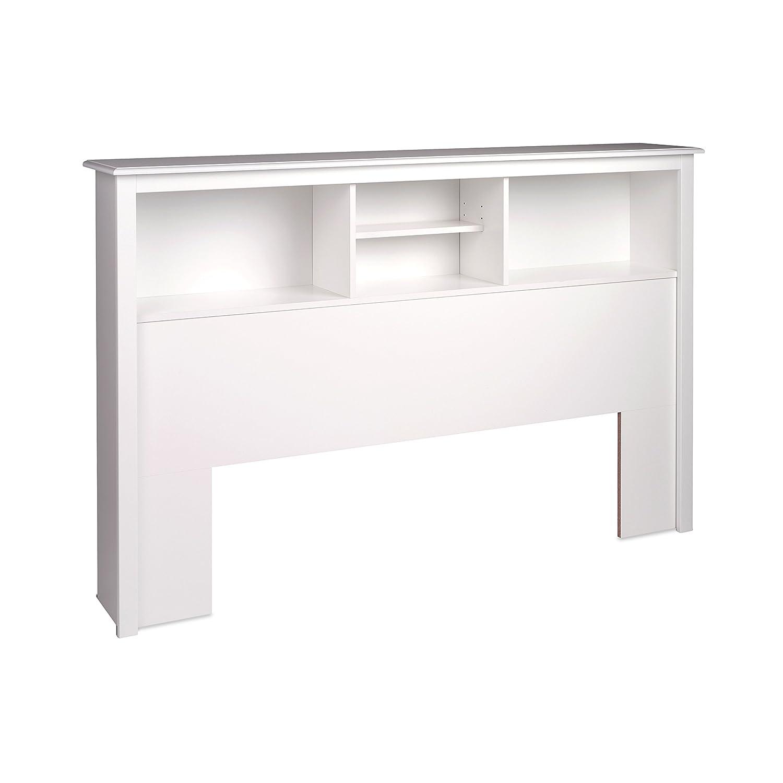Amazon.com - White Full / Queen Bookcase Headboard - Bedroom Armoires
