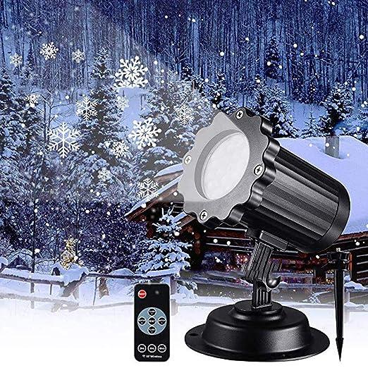 QJJML Luces Navidad para Proyectores Al Aire Libre,Luz Proyector ...
