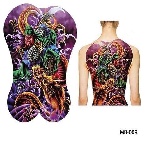 2pcsGrandes Pegatinas de Tatuaje Grande en el Pecho con Espalda ...