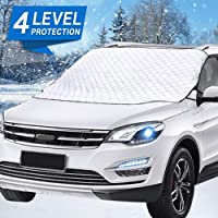 $22 » Mumu Sugar Car Windshield Snow Cover, Car Windshield Snow Ice Cover With 4 Layers…