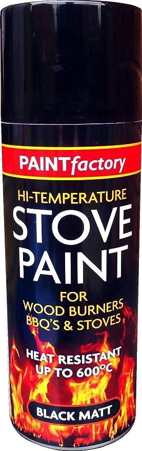 1 x 400 ml Resistente al Calor Mate Negro Spray Pintura Estufa de Escape de Alta Temperatura.: Amazon.es: Bricolaje y herramientas