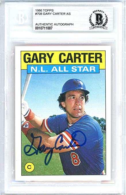 Gary Carter Autographed 1986 Topps Tiffany Card Autographed