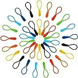 Outus Zipper Pulls Zipper Extension Nylon Zipper Tab Replacement, 35 Pieces, 7 Colors