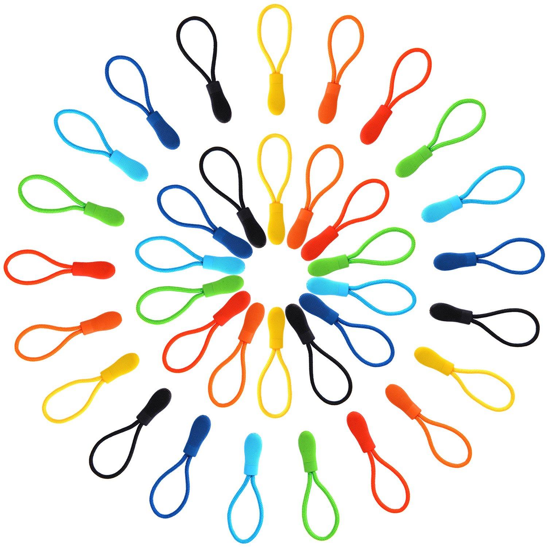 Outus Zipper Pulls Zipper Extension Nylon Zipper Tab Replacement, 35 Pieces, 7 Colors 4337006768