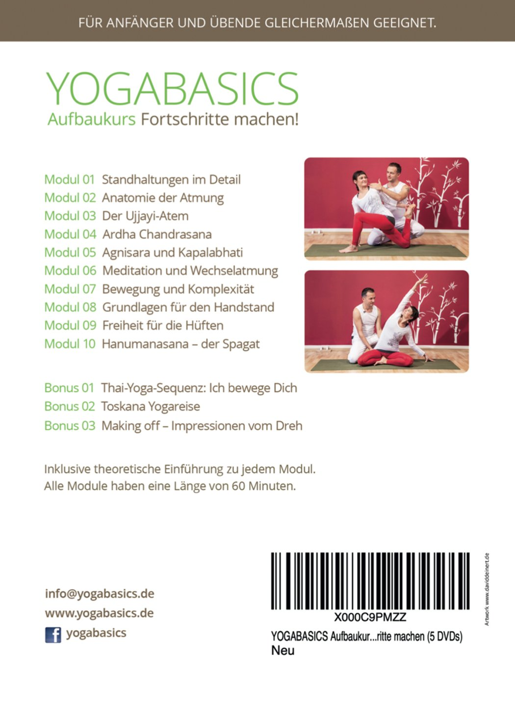 YOGABASICS Aufbaukurs: 10 Stunden Yoga für Anfänger und ...