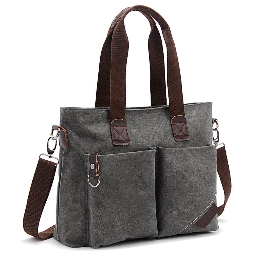 ToLFE Women Top Handle Satchel Handbags Tote Purse Shoulder Bag (Large: (L)14.57''x(W)6.3''x(H)12.2'', Grey-(L))