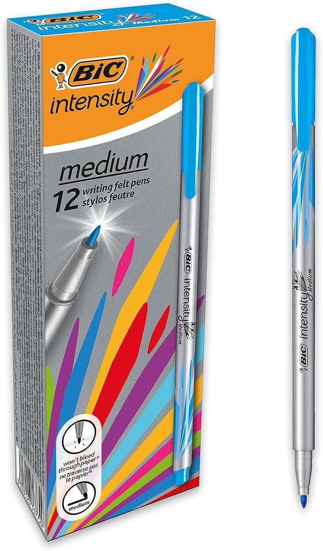 BIC Intesity Medium - Caja de 12 unidades, rotuladores punta media ...