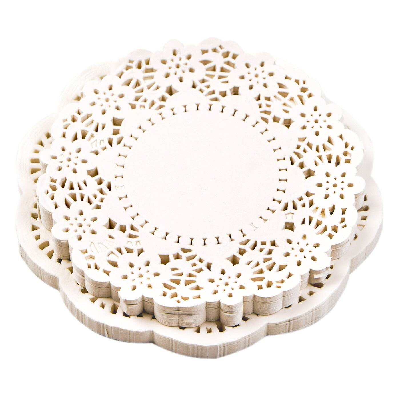 NOVSIX Doilies Paper Lace Cake Packaging Paper Pad White Color SET of 300 PCS