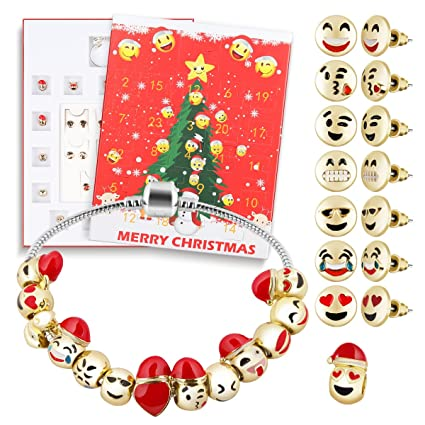 d fantix christmas countdown calendar 2018 women girls diy jewelry advent calendar 24 days collection