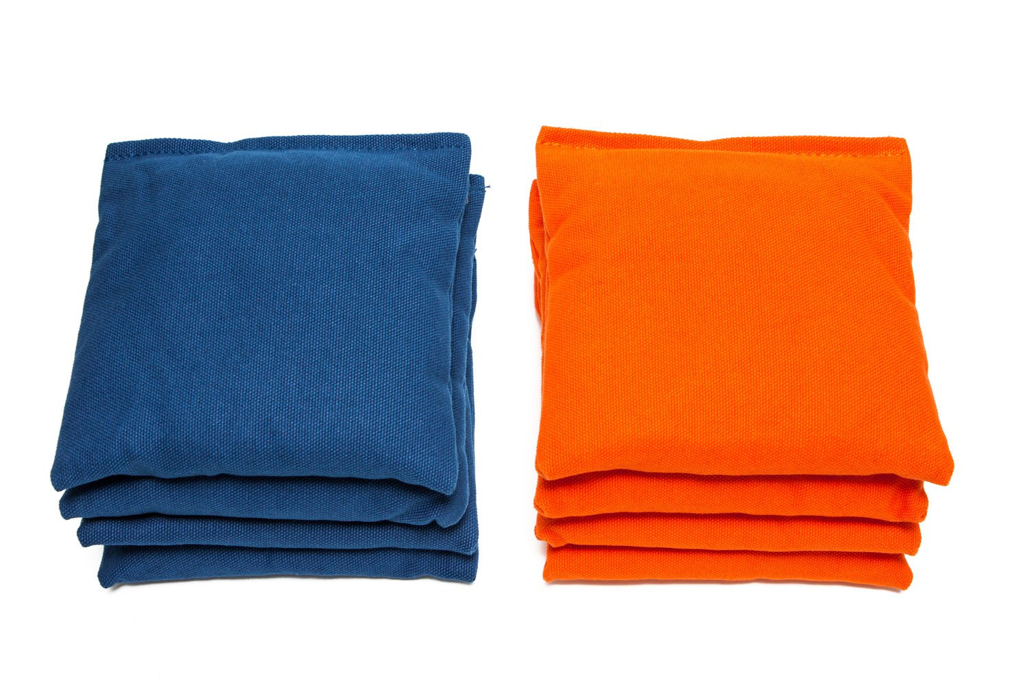 Weather Resistant Cornhole Bags (Set of 8) by SC Cornhole (Royal Blue/Orange) by SC Cornhole Games