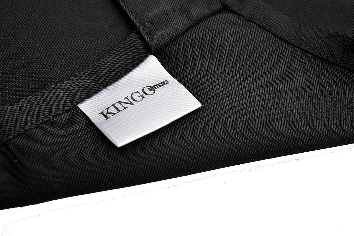 KINGO HOME 10 Pack Professional Commercial Restaurant Cooking Kitchen Bib Apron, Aprons for Women Men Chef, Black - 33 x 28 inches