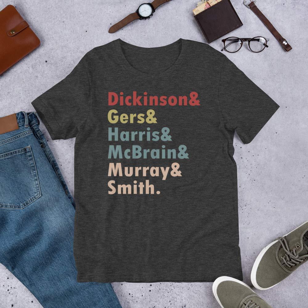 Peach Shine Retro 60s Iron Maiden Members Dickinson/& Gers/& Harris/& McBrain/& Murray/& Smith Gift Mens Womens Tshirt