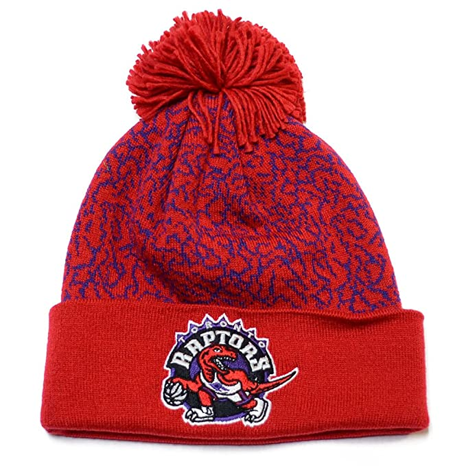 a73ff658f04 Image Unavailable. Image not available for. Color: Toronto Raptors Mitchell  & Ness Crack Pattern NBA Knit ...