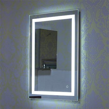 Turefans Specchio da parete, design moderno, interruttore tattile a ...