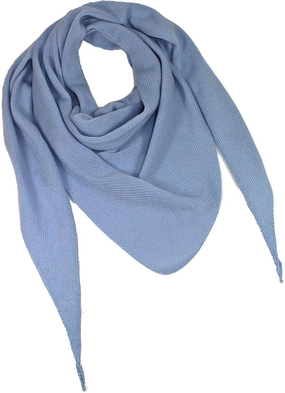 3ecks Tuch aus Cashmere in Blau