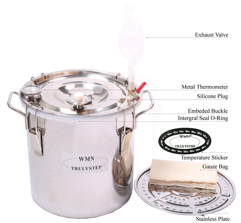 WMN_TRULYSTEP MSC03 Copper Alcohol Moonshine Ethanol Still Spirits Boiler Water Distiller, 20 Litres by WMN_TRULYSTEP (Image #3)