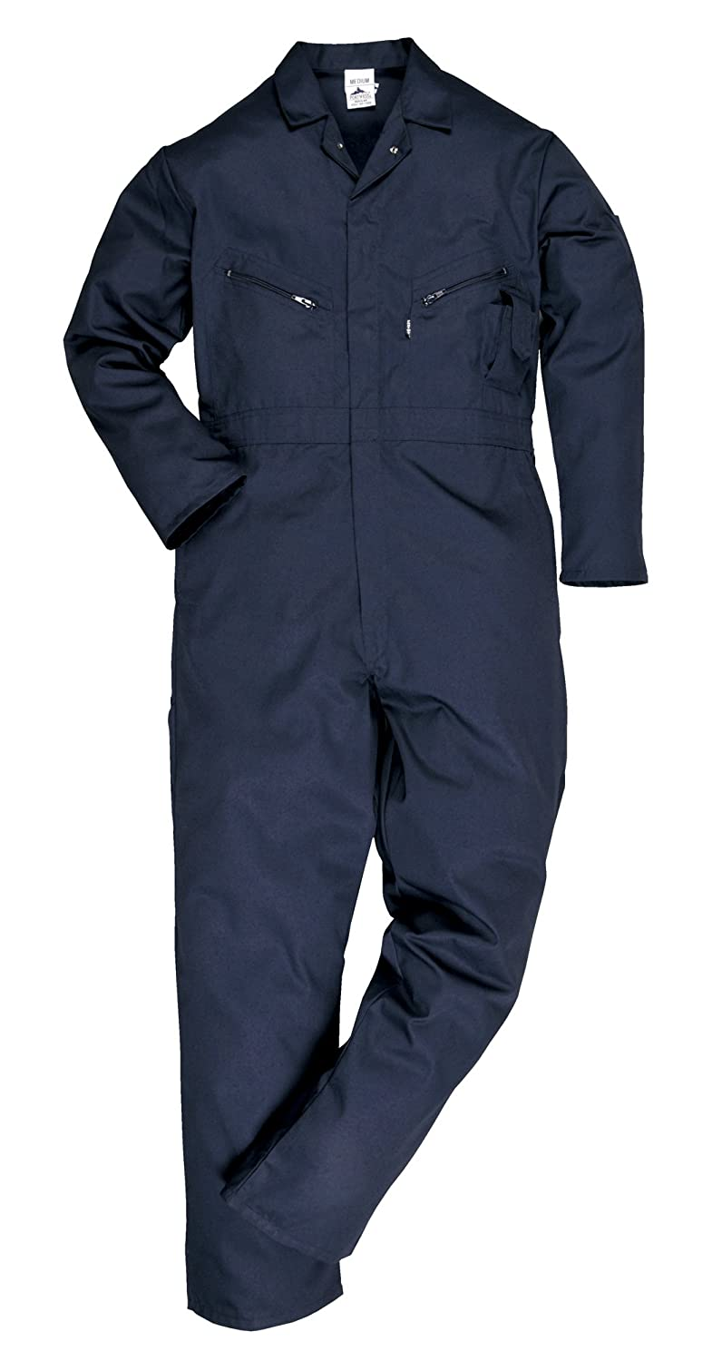 Portwest C813BKTXXL Liverpool Zip Coverall, Tall, XX-Large, Black