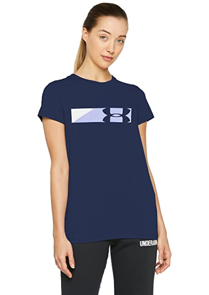 9aad99550 Under Armour Womens sportstyle Branded Graphic, Academy (408)/White, X-