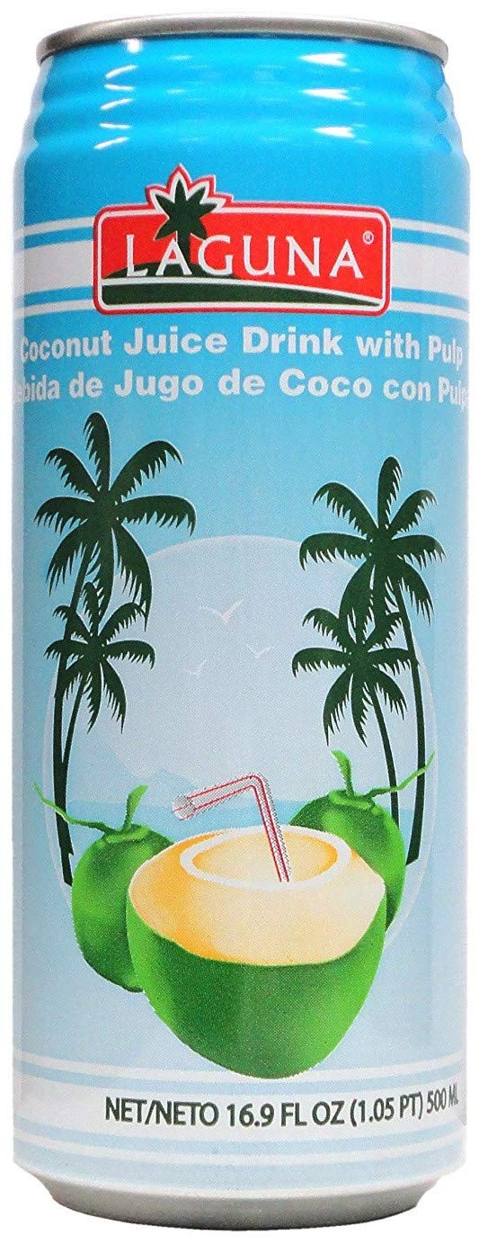 Laguna Coconut Juice Drink with Pulp 16.9 oz x 24 Cans