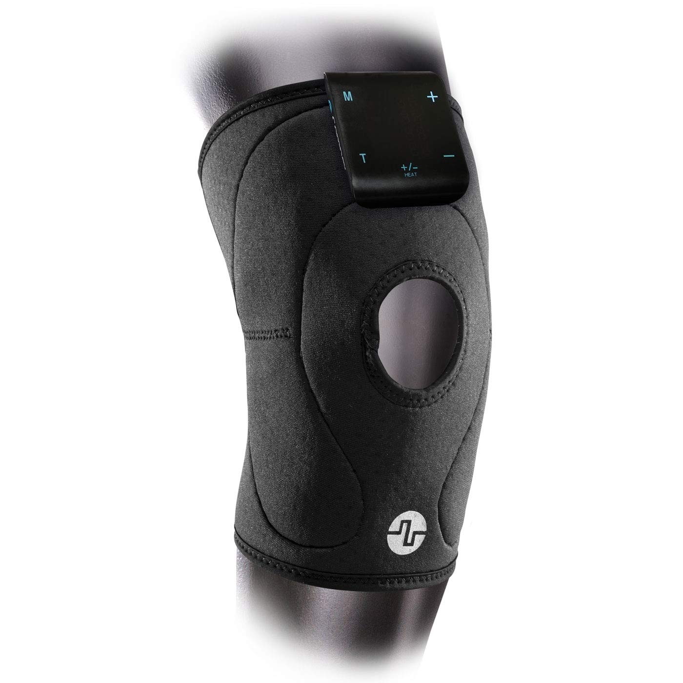 Compex TENS/HEAT Knee Wrap, Black - Heated Knee Wrap with TENS Unit for Knee Pain, Small/Medium