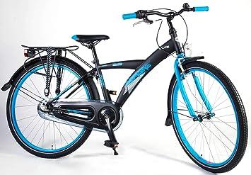 Bicicleta Niño Chico 26 Pulgadas Thombike City Freno Delantero al Manillar y Trasero Contropedal Shimano Nexus 3 Velocidades Portabultos Trasera Negro Azul 95% Montada: Amazon.es: Deportes y aire libre