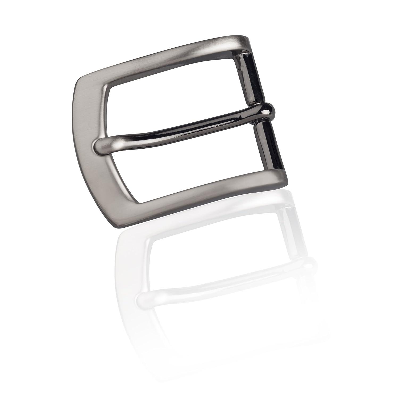 Gürtelschnalle Buckle 30mm Metall Silber Anthrazit - Buckle Sydney - Dornschliesse Für Gürtel Mit 3cm Breite - Silberfarben Anthrazit
