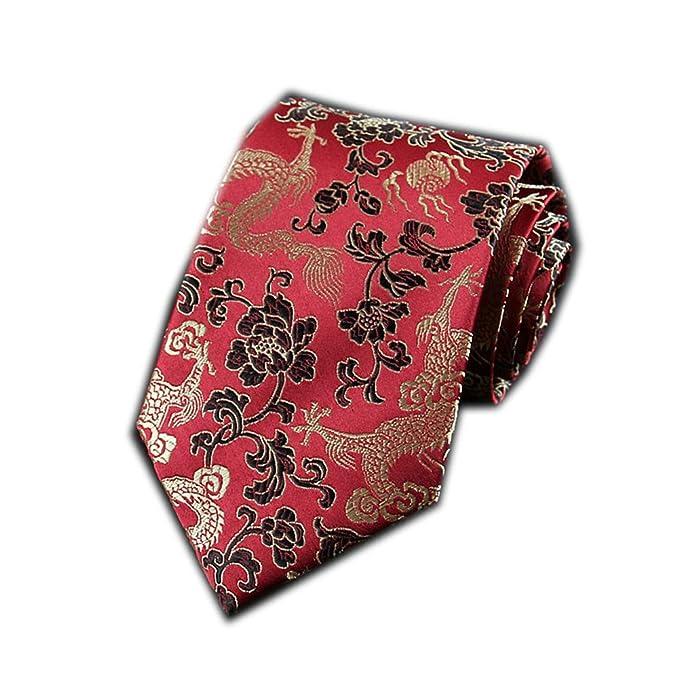 be0ce11a2106 Men's Chinese Dragon Silk Tie Best Necktie Neckwear Black Gold Dragon