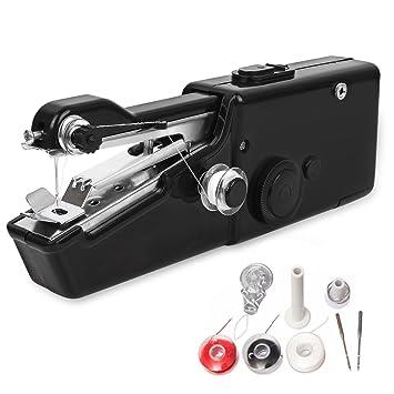 Máquina de coser de mano, mini máquina de coser eléctrica de mano inalámbrica, herramienta