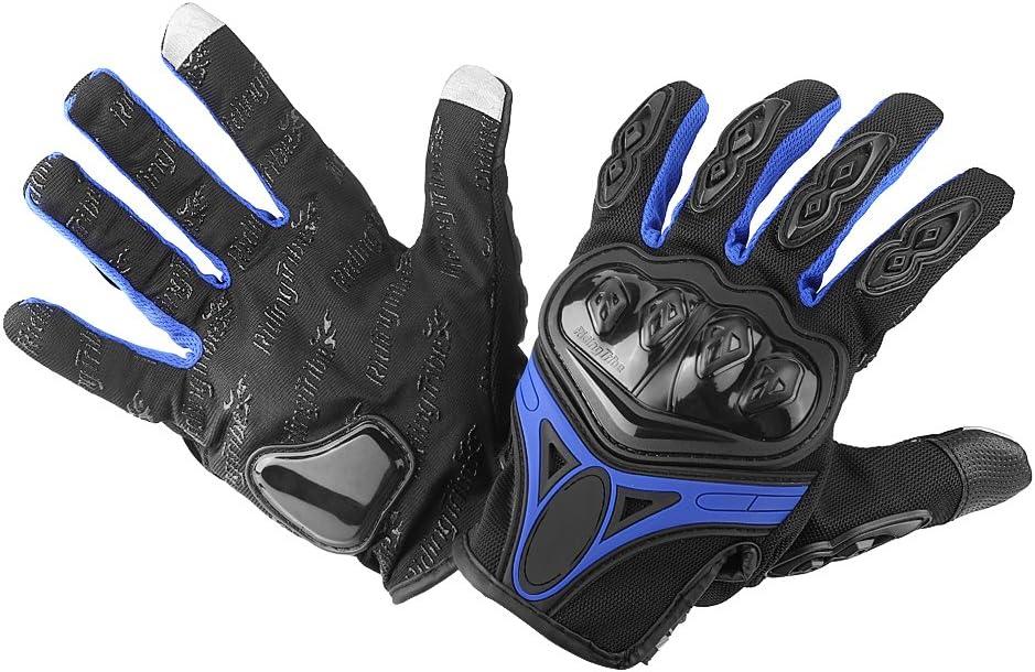 Estink 1 Paar Motorrad Anti-Rutsch Handschuhe Flexibel Ber/ühren Volle Fingerhandschuhe f/ür Motorradfahren L, Rot Autorennen Skifahren Skaten