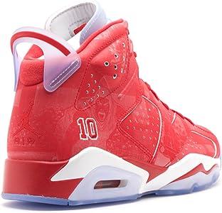 Mens Air Jordan 6 Retro X Slam Dunk Varsity Red White Leather Basketball Shoes