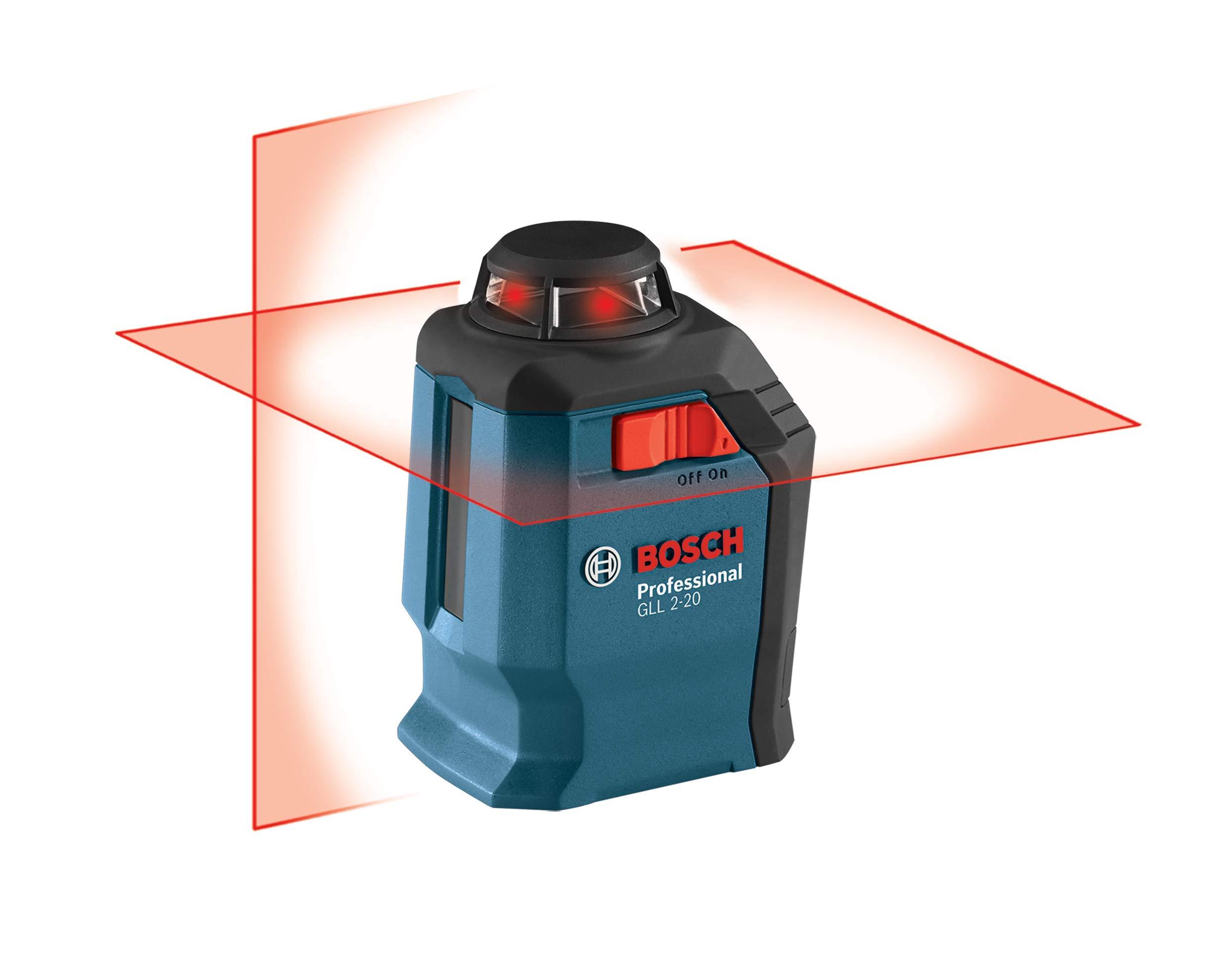 Láser de línea cruzada autonivelante de 360 grados de Bosch GLL 2-20