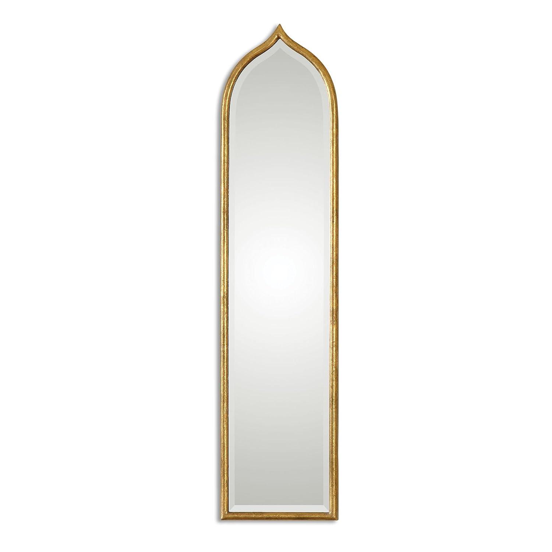 long narrow mirror rectangular amazoncom zinc decor narrow arch gold leaf beveled wall mirror large 50 home kitchen