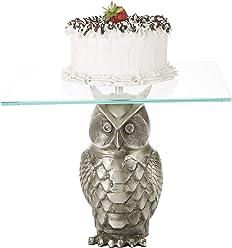 68985e2cb733b Mind Reader OWLCAKE-SIL Owl, Party Cake, Cupcake Holder, Tree Tower Stand