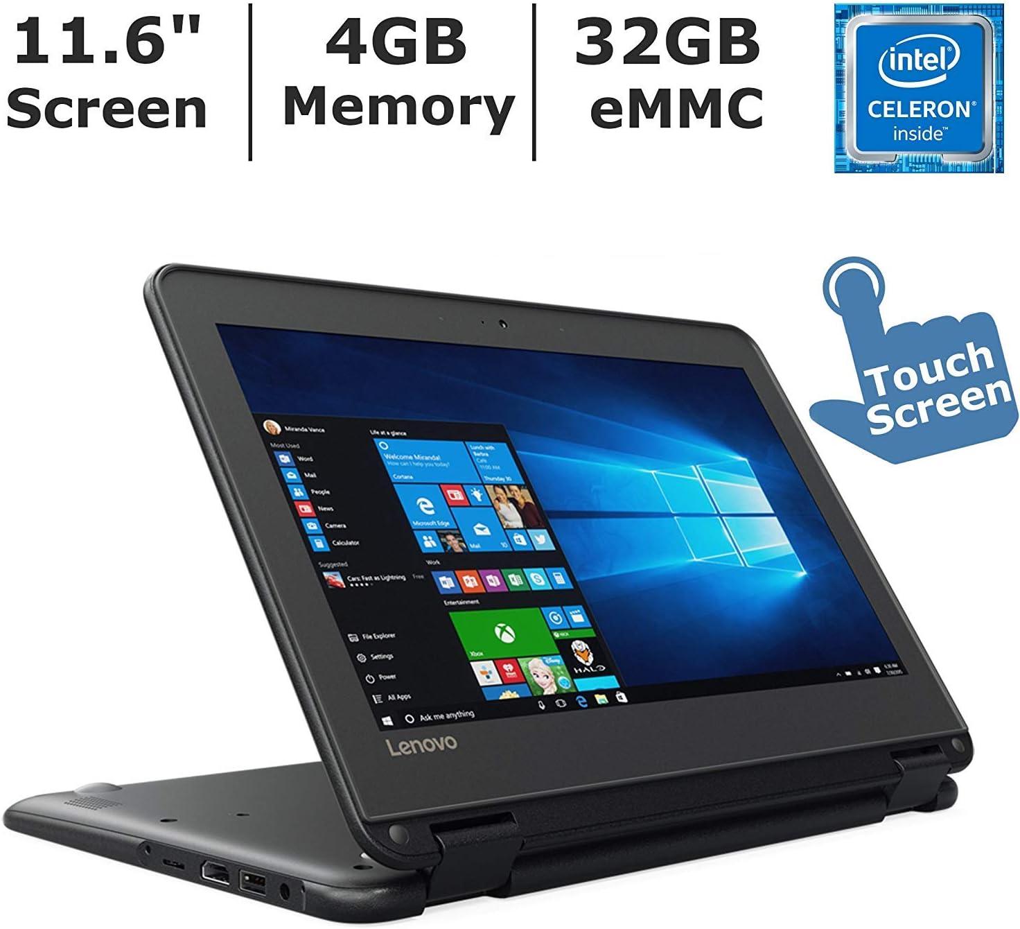 Lenovo 80UR001FUS N23 80UR - Flip Design - Celeron N3060 / 1.6 GHz - Win 10 Pro 64-bit - 4 GB RAM - 32 GB eMMC - 11.6 inch Touchscreen 1366 x 768 (HD)