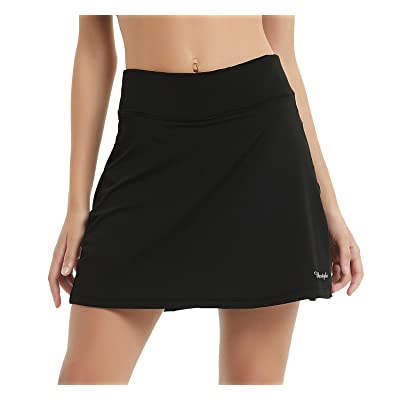 Ubestyle UPF 50+ Women's Active Athletic Skort Performance Skirt with Pockets for Running Tennis Golf Workout: Clothing