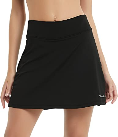 Amazon.com: Ubestyle UPF 50+ Women's Active Athletic Skort Performance Skirt  with Pockets for Running Tennis Golf Workout: Clothing