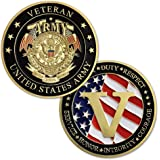 United States Army Veterans Challenge Coin Collection Gift