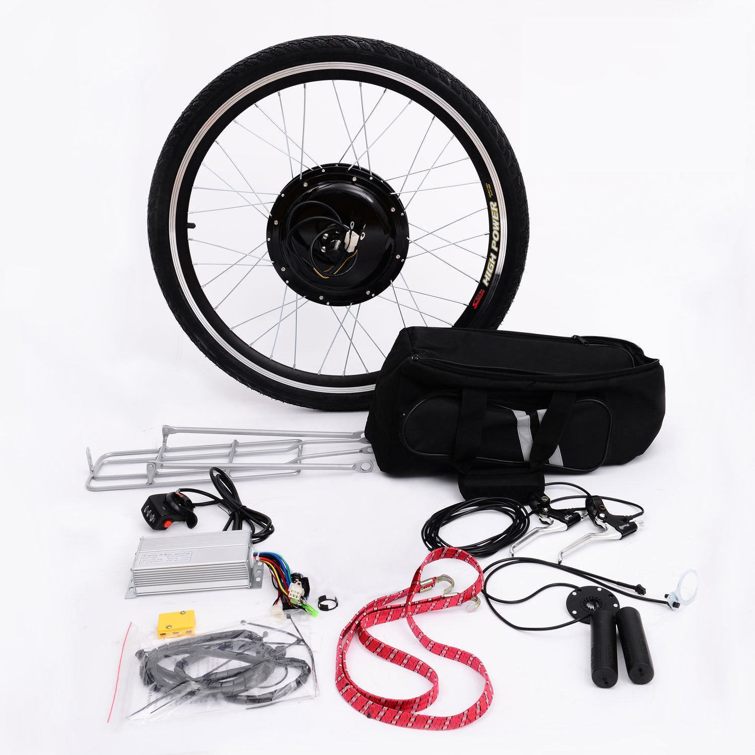 Aosom 26 Rear Wheel 48v 1000w Electric Battery Powered Wiring Diagram For Motorized Bicycle Motor Conversion Kit Cycle Frames Sports Outdoors