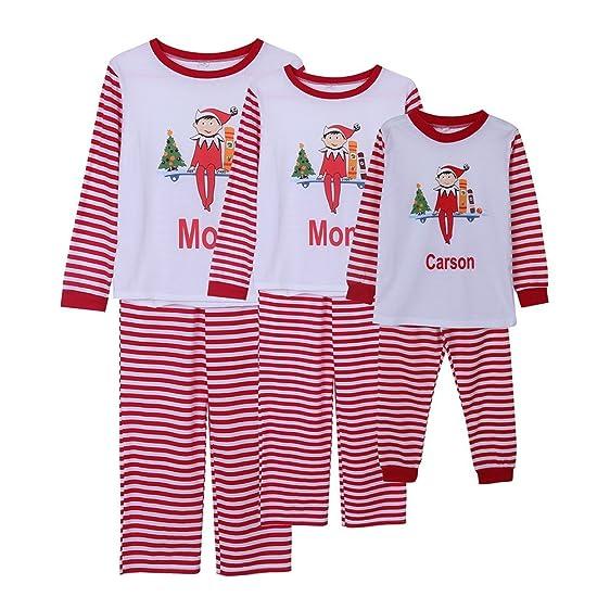 gsha family christmas pajamas sets dad mom kids carson sleepwear outfits