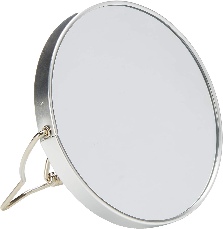 Danielle Enterprises Soft Touch 10X Magnification Round Vanity Mirror, Pink