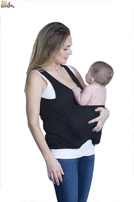 Camiseta portabebés elástica para transportar a tu recién nacido ...