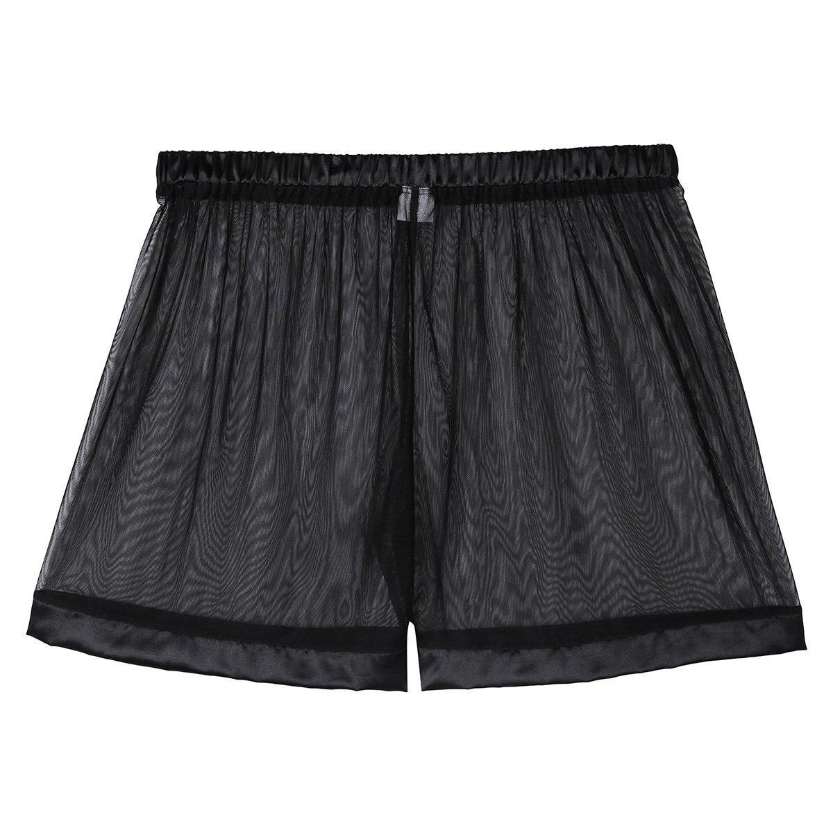 Alvivi Mens Mesh See-Through Loose Lounge Boxer Shorts Underwear