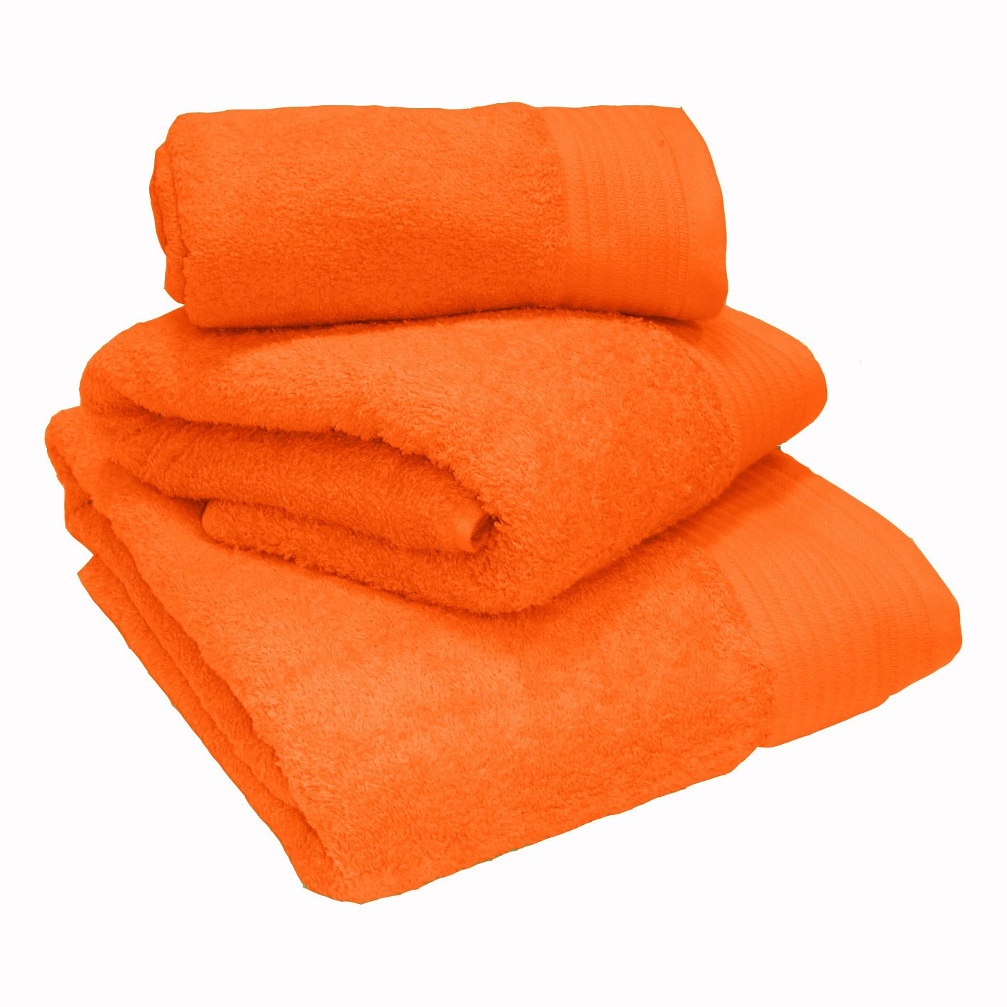 Luxury 100% Egyptian Cotton Tangerine Towels Face Cloth 30x30cm Yorkshire Linen