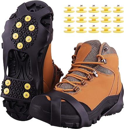 Footful Semelle à Crampon Antidérapante Pointes Chaussure de Randonnée Marche