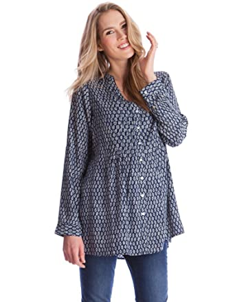 1e4a61f91acc9 Seraphine Fern Maternity Nursing Button Down Blouse at Amazon Women's  Clothing store: