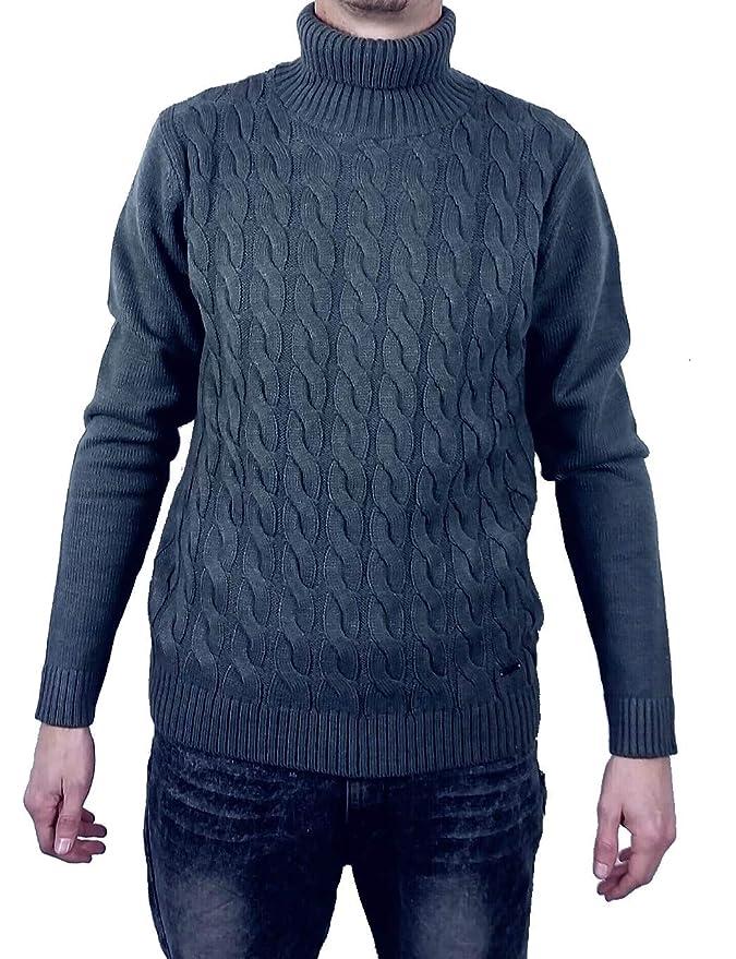 Markup Uomo Pullover Chiuso Collo Alto Maglione Dolcevita