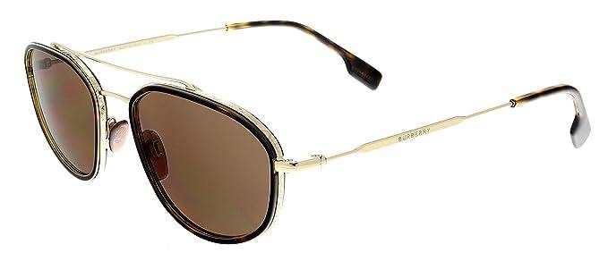 Amazon.com: Burberry Mens 0BE3106 Sunglasses, Light Gold ...