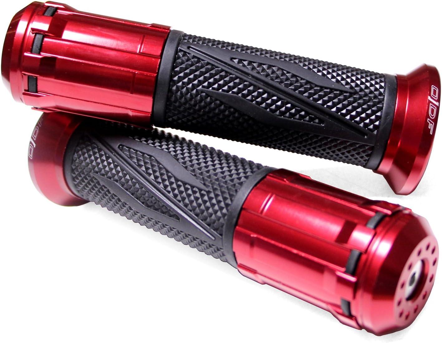 NRG Power NRG mc2,3 // Piaggi-o X8 Impulsfoto colore: Gun//Rosso Manopole per manubrio Piaggi-o NRG X9