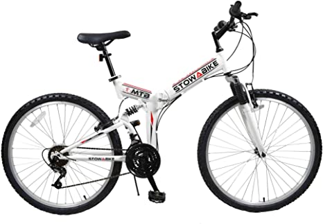 Stowabike – Bicicleta de montaña, 26 V2 Plegable Doble suspensión ...