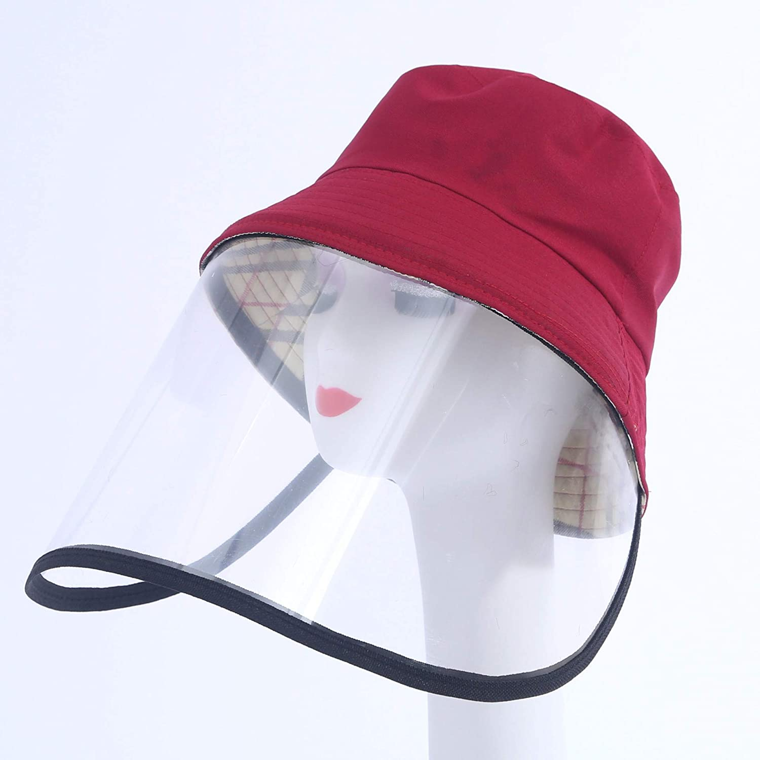 Full Face Isolation Anti-Pollution Hat Fishing Hat Hiking Boonie Hat Anti Saliva Fog UV Hat with Face Shield Flovey Protection Hat for Men /& Women Camping